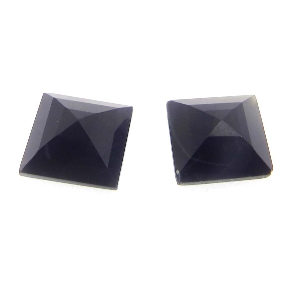 Black Onyx 10x10mm Square Cut 3.6 Cts