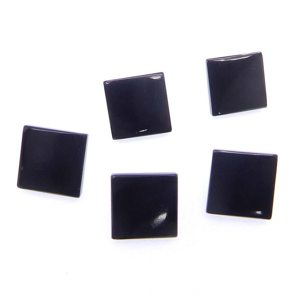 Black Onyx 10x10mm Square Cut Cab 4.5 Cts
