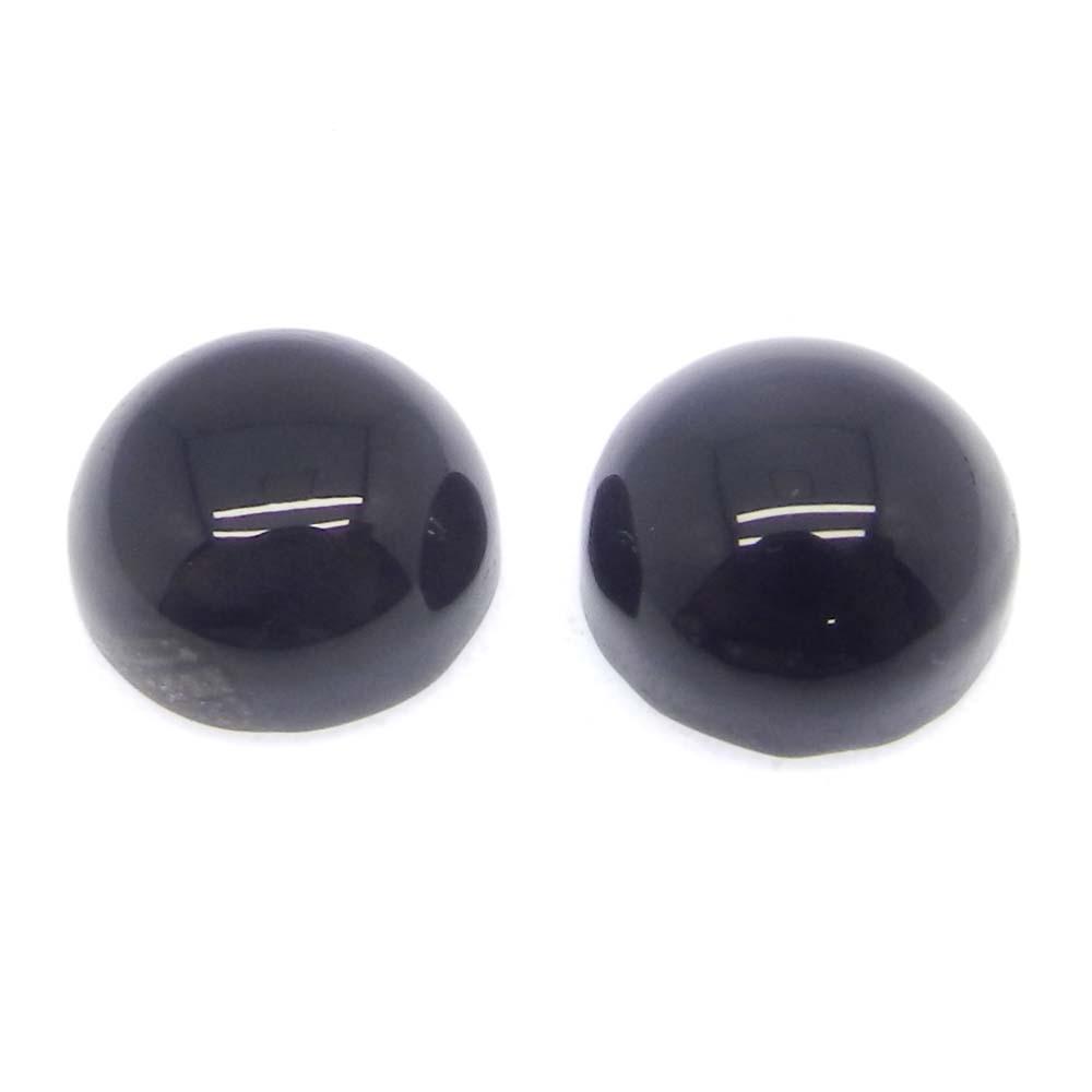 Black Onyx 11mm Round Cabochon 5.4 Cts