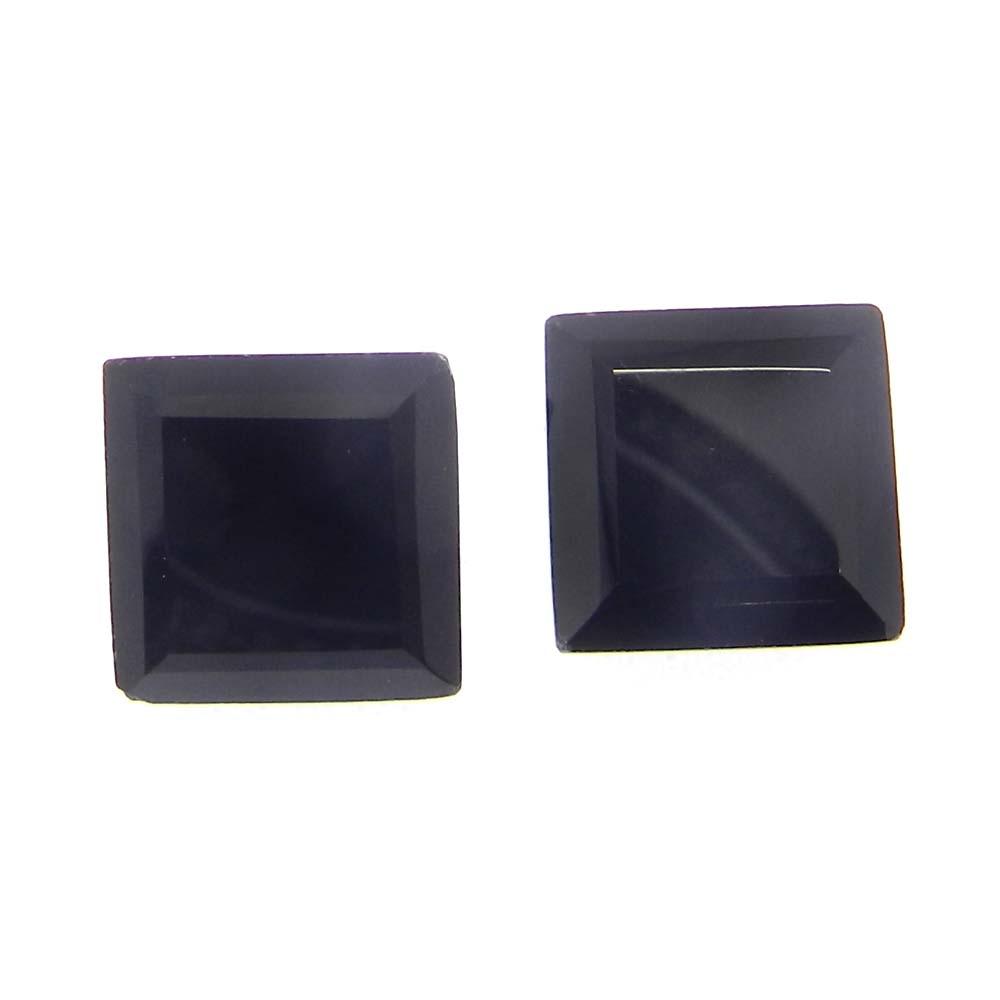 Black Onyx 11x11mm Square Cut 5.7 Cts