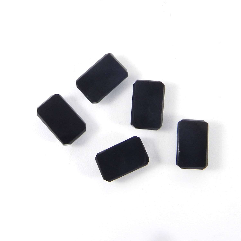 Black Onyx 11x7mm Octagon Checkerboard Cut 3.0 Cts