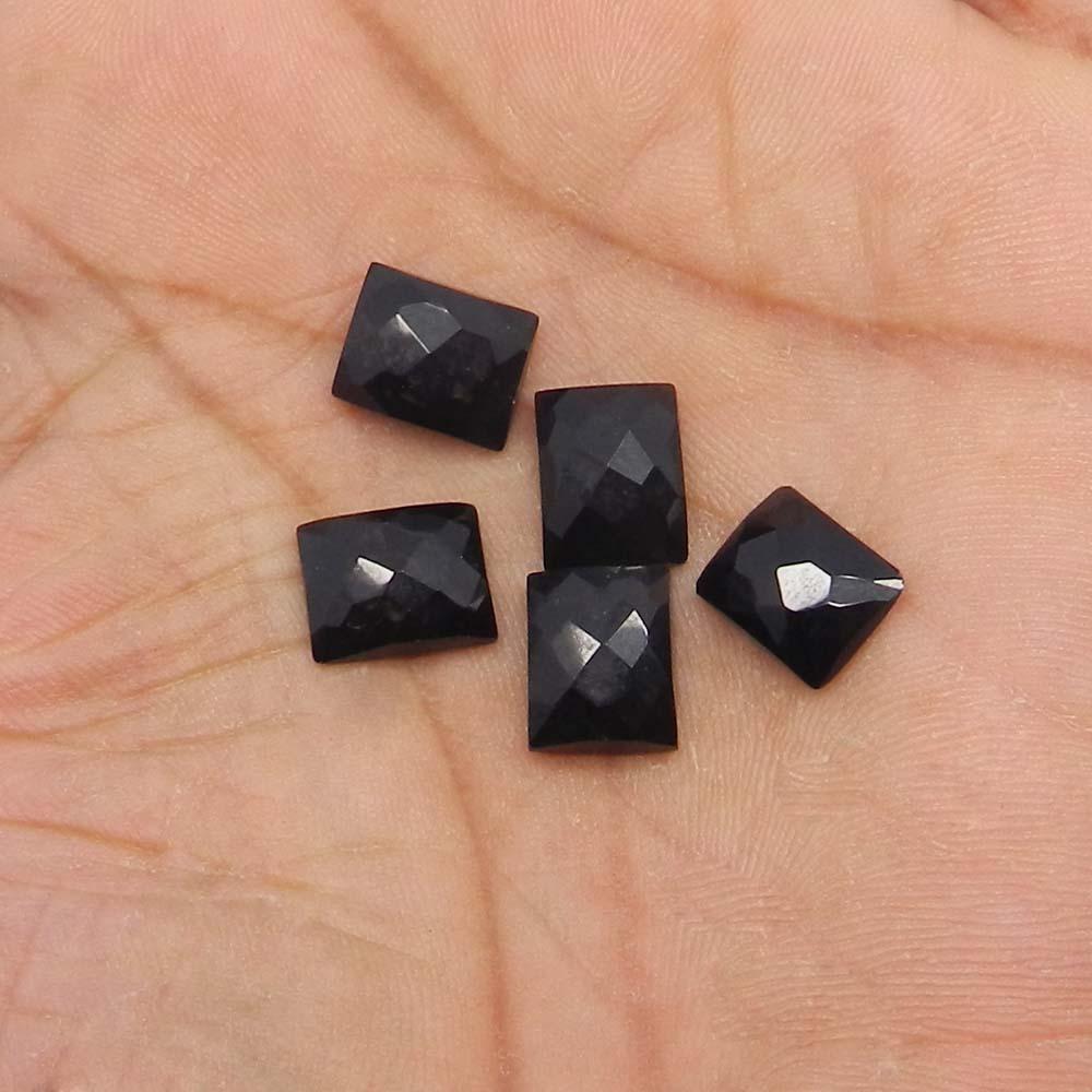 Black Onyx 11x9mm Octagon Checkerboard Cut Cab 4.28 Cts