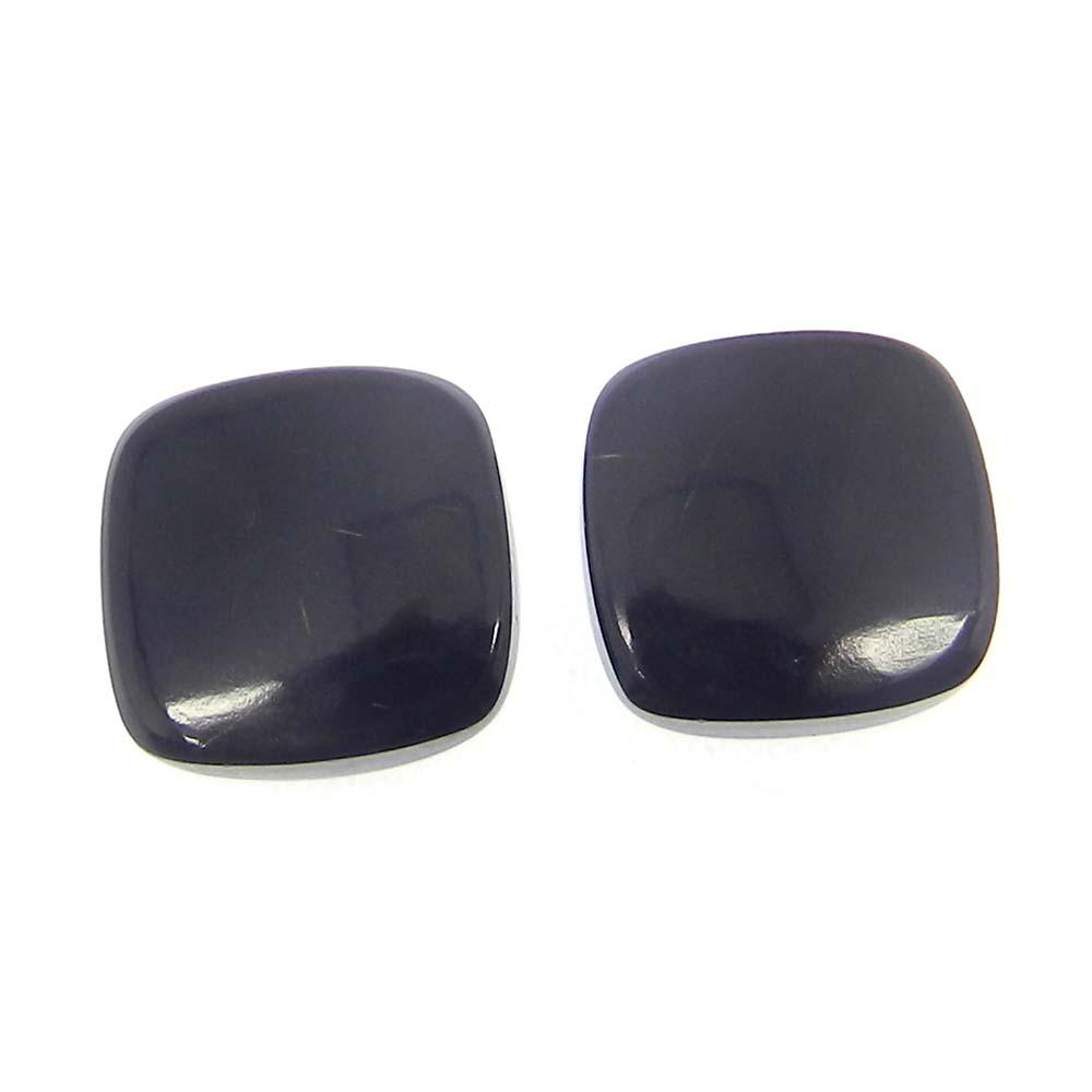 Black Onyx 12x12mm Cushion Cabochon 6.15 Cts