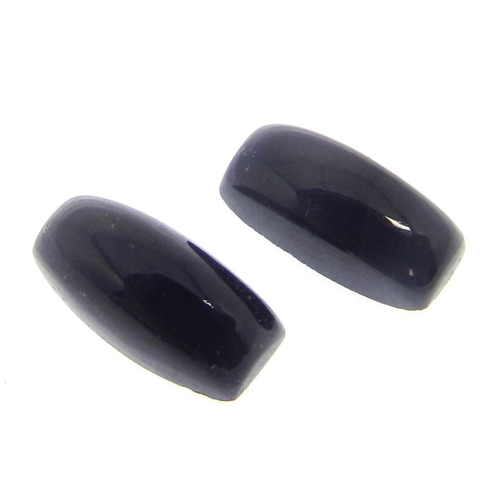 Black Onyx 12x6mm Cushion Cabochon 3.05 Cts