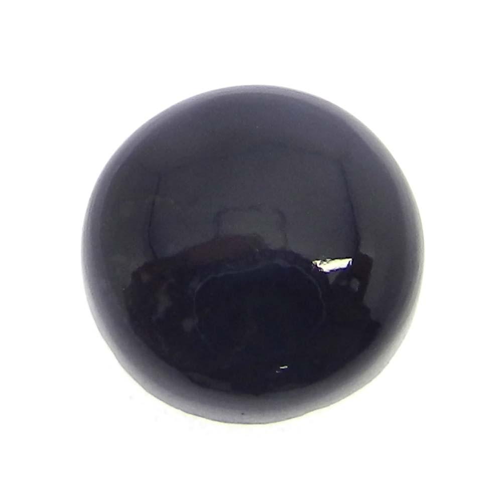 Black Onyx 13mm Round Cabochon 7.0 Cts