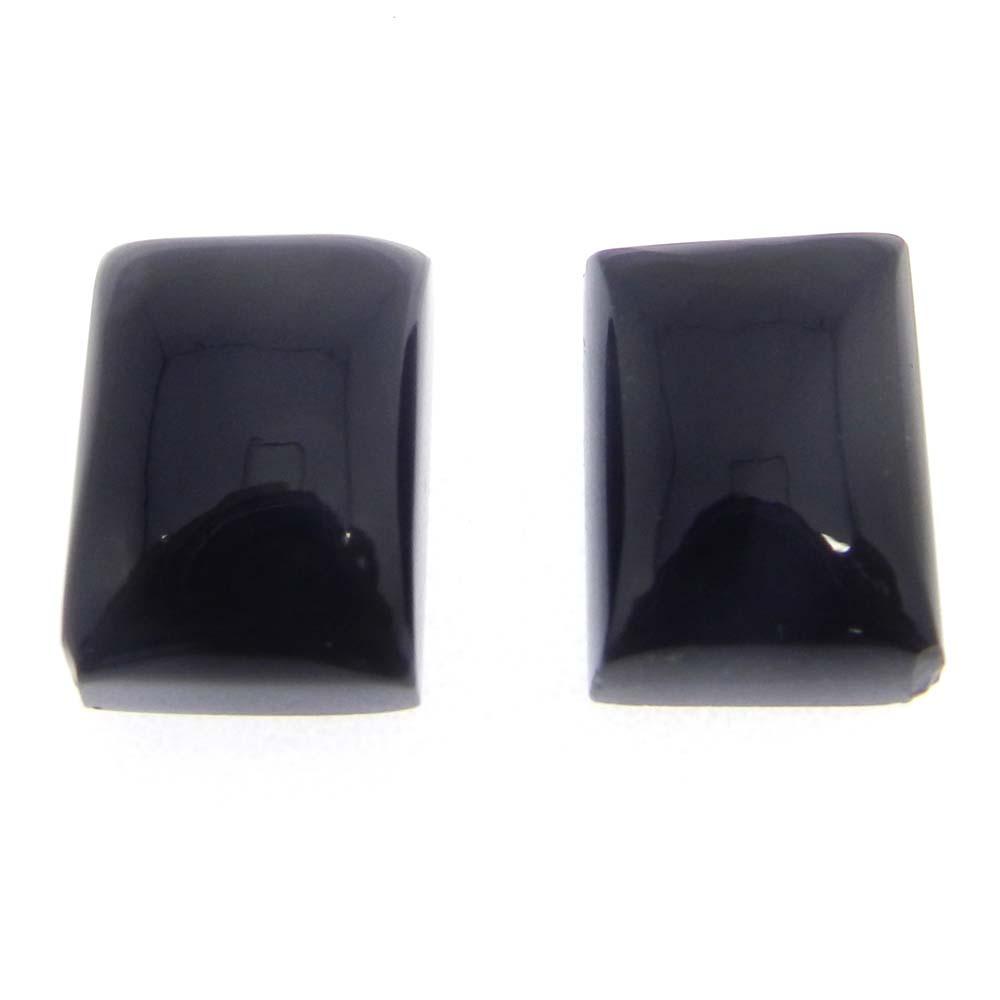 Black Onyx 14x10mm Octagon Cabochon 7.8 Cts