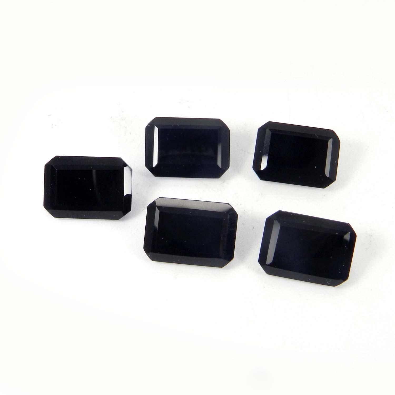Black Onyx 14x10mm Octagon Cut 5.6 Cts