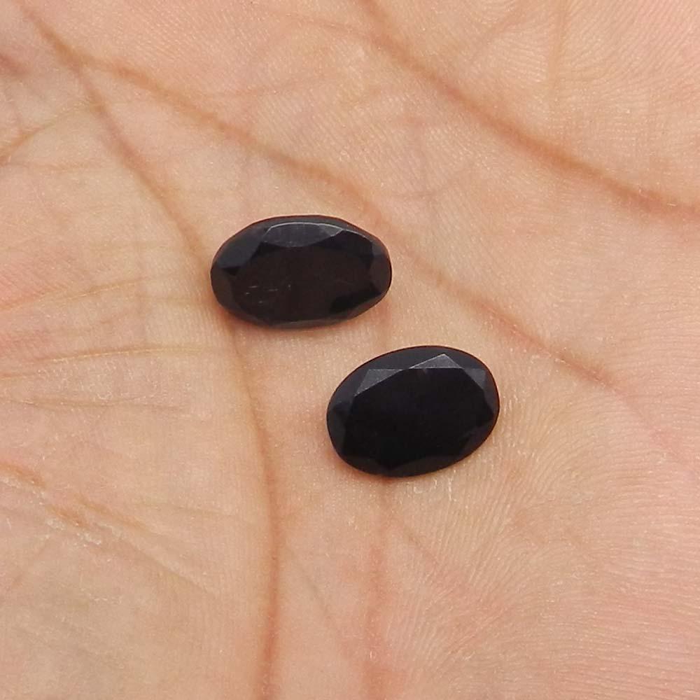 Black Onyx 14x10mm Oval Cut 4.6 Cts