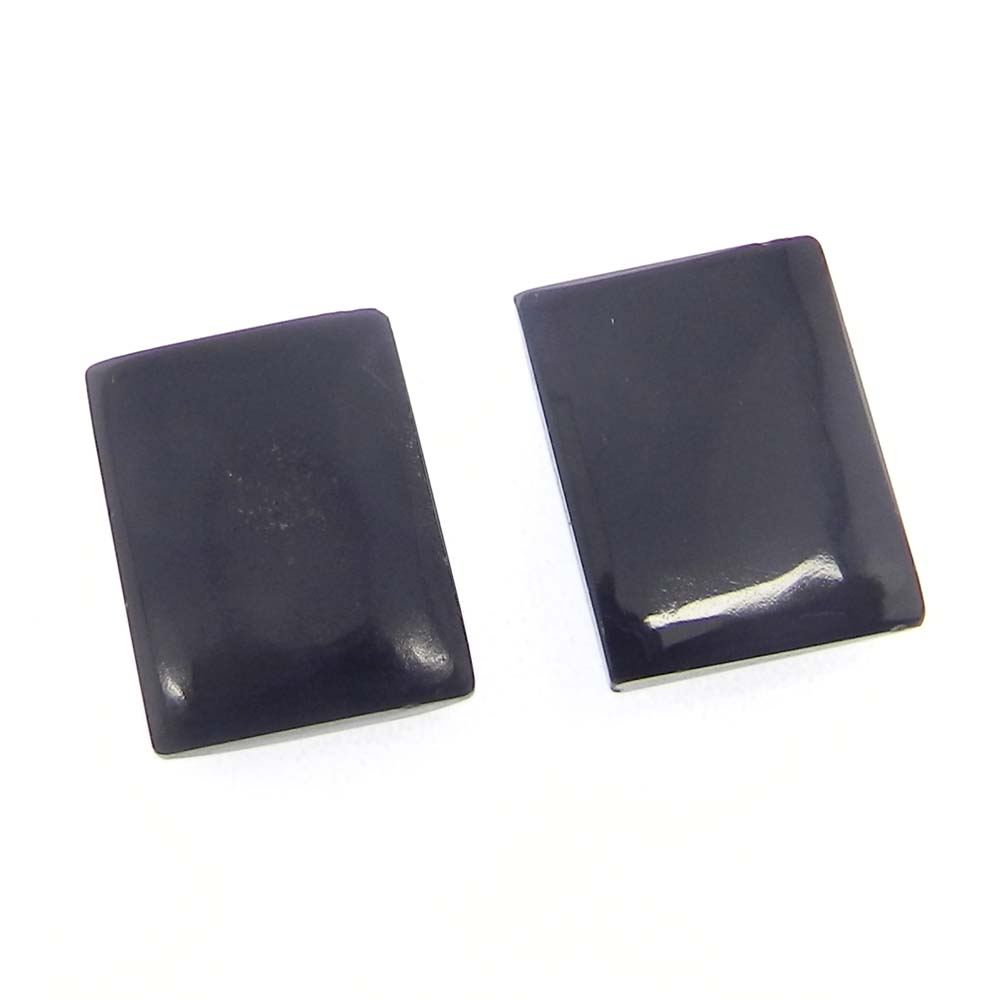 Black Onyx 16x12mm Octagon Cabochon 12.05 Cts