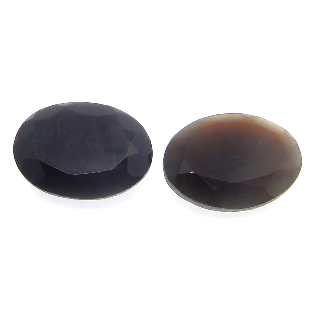 Black Onyx 16x12mm Oval Cut 6.9 Cts