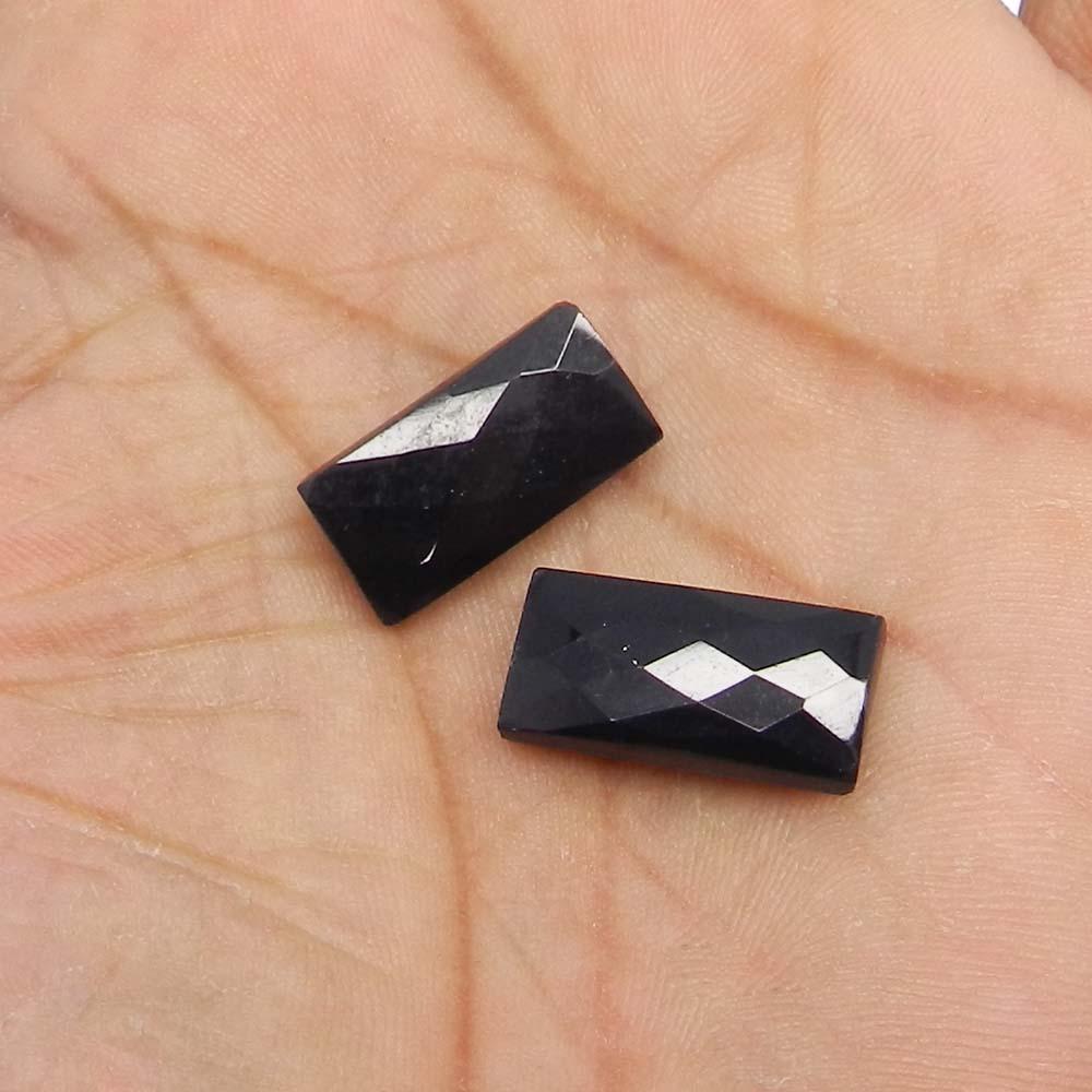 Black Onyx 20x10mm Octagon Checkerboard Cut 11.2 Cts