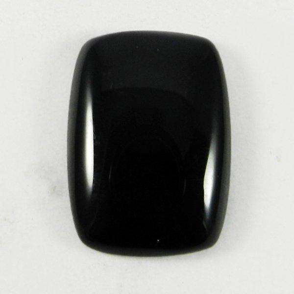 Black Onyx Cushion Cabochon Gemstone IG3078