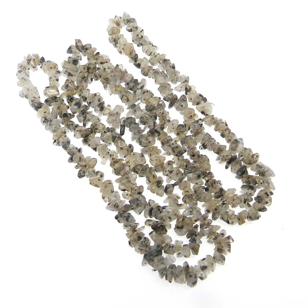 Black Rutile 6-7mm Approx 34 Inch Length Chips Strand Beads