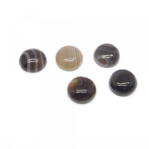 Black Sard Onyx 9mm Round Cabochon 2.45 Cts