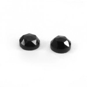 Black Spinel 5mm Round Rose Cut 0.5 Cts