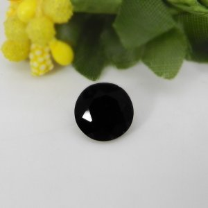 Black Tourmaline 9x9mm Round Faceted Cut 2.65 Cts