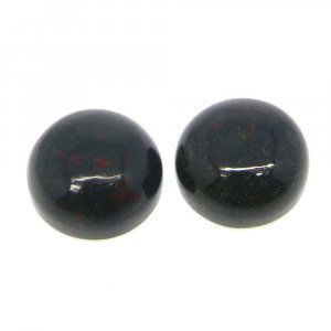 Blood Agate 12mm Round Cabochon 6.7 Cts
