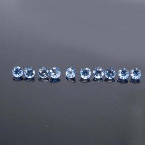 Blue Aquamarine 3mm Round Cut 0.12 Cts