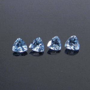 Blue Aquamarine 4x4mm Trillion Cut 0.23 Cts