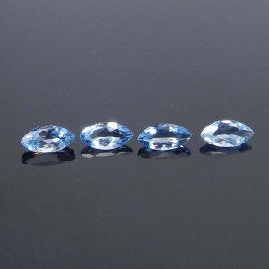 Blue Aquamarine 6x3mm Marquise Cut 0.22 Cts