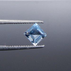 Blue Aquamarine 6x6mm Square Cut 0.83 Cts