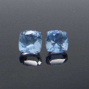 Blue Aquamarine 8x8mm Cushion Extra Facet Cut 2.64 Cts