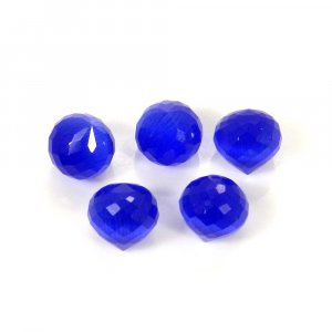 Blue Cats Eye Without Drilled 8x8mm Onion Cut Ball 3.45 Cts