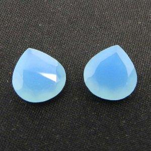 Blue Chalcedony 10x10mm Heart Cut 2.75 Cts