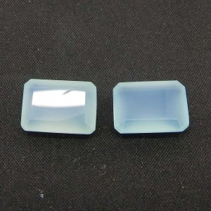 Blue Chalcedony 14x10mm Octagon Cut 6.85 Cts