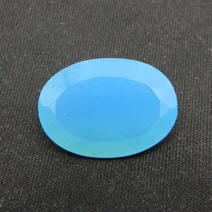 Blue Chalcedony 18x13mm Oval Cut 10.35 Cts