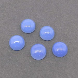 Blue Chalcedony 7mm Round Cabochon 1.60 Cts