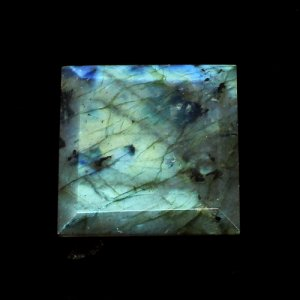 Blue Fire Labradorite Gemstone Square Faceted 23x23mm 31.75 Cts