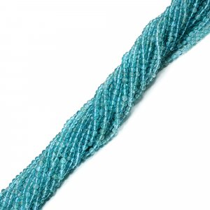 Blue Glass 3mm Rounde Smooth Beads 13 Inch Strand