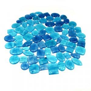 Blue Jade Mix Shape Wholesale Lot Cabochon 100 Gram