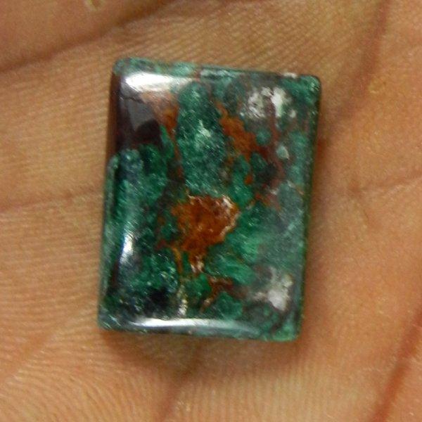 Blue Malachite 19x15mm Rectangle Cabochon 19.5 Cts