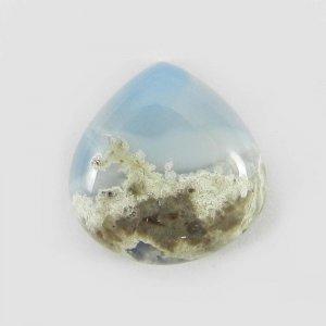 Blue Opal 16mm Heart Cabochon 8.3 Cts