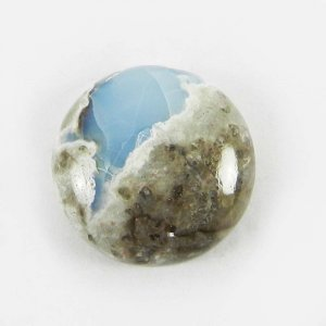 Blue Opal 18mm Round Cabochon 12.8 Cts