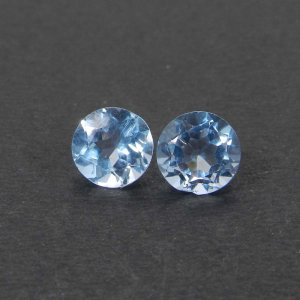 Blue Topaz 7x7mm Round Faceted 1.80 Cts