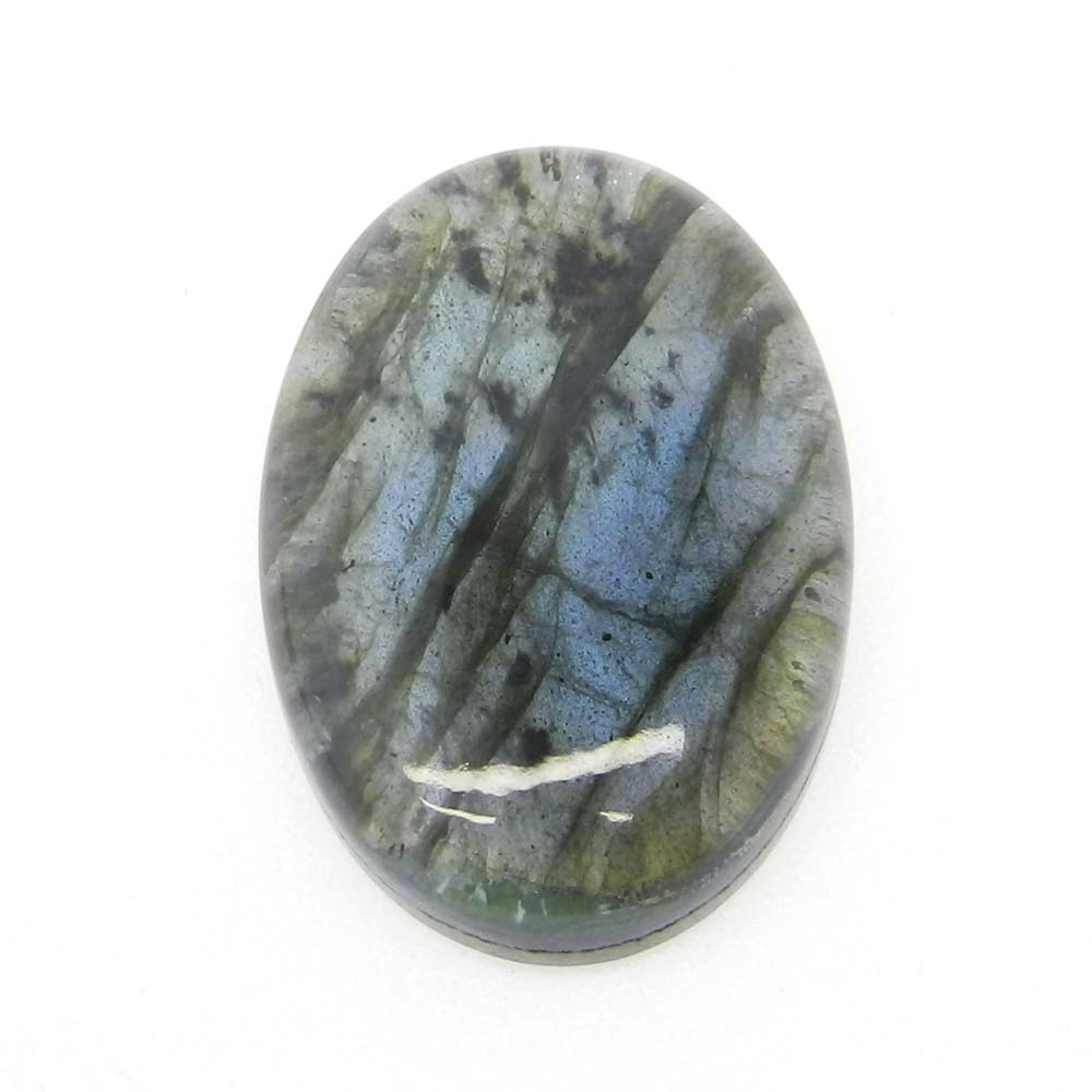 Blue Topaz Hydro And Labradorite Doublet 30x20mm Oval Cabochon 38 Cts