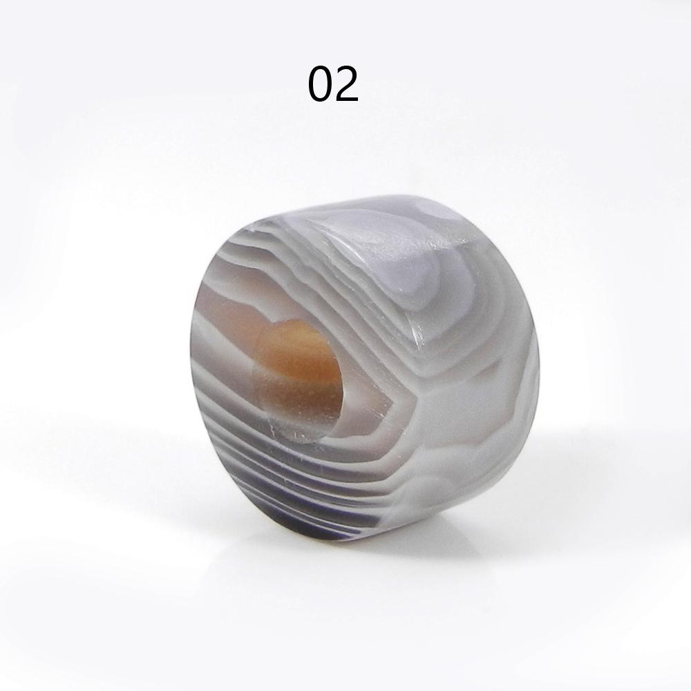 Botswana Agate 14x8x5mm Round Flat Beads