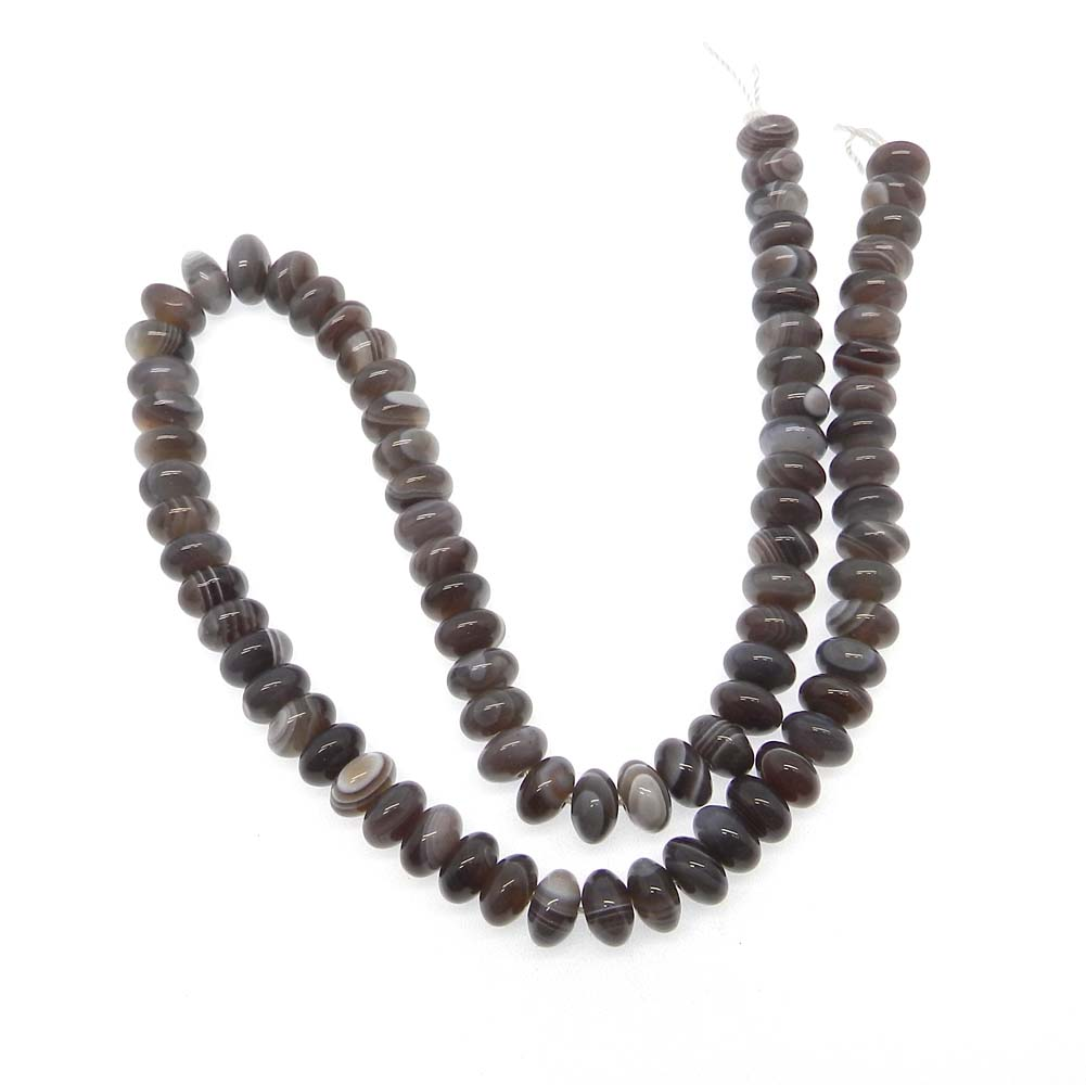 Botswana Agate 8.5mm Roundel Smooth 15 inch Strand Beads