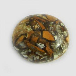 Brecciated Mookaite Jasper 20mm Round Cabochon 15.75 Cts