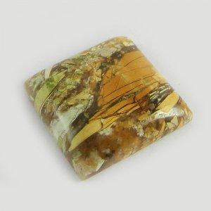 Brecciated Mookaite Jasper 20x20mm Square Cabochon 24.0 Cts