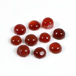Carnelian Gemstone Round Cabochon 5mm 0.61Cts