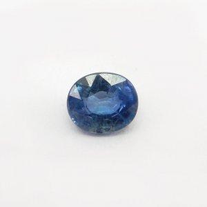 Ceylon Blue Sapphire 11.5x10mm Oval Cut 6.6 Cts