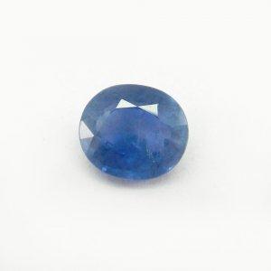 Ceylon Blue Sapphire 12x11mm Oval Cut 7.4 Cts