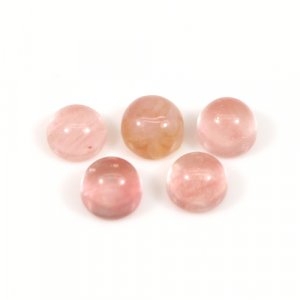 Cherry Crackle Glass 5x5mm Round Cabochon 0.50 Cts