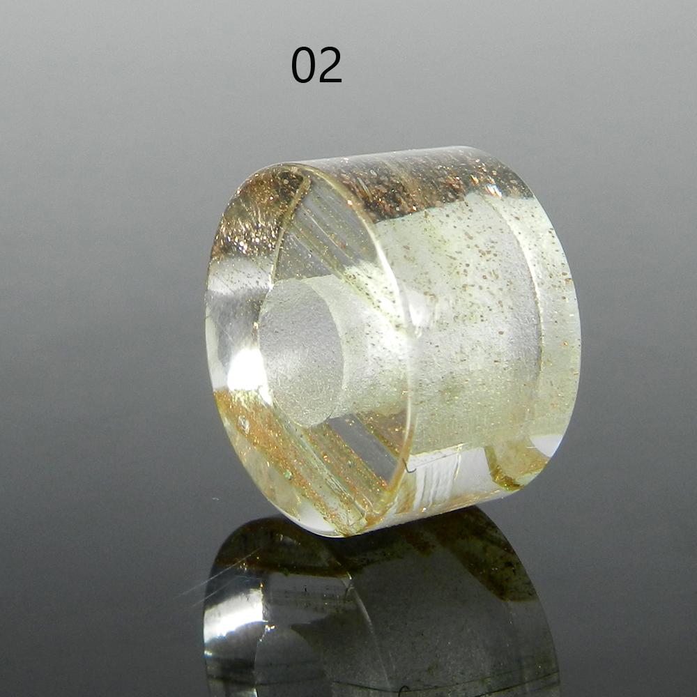 Chinese Red Rutile Quartz 14x8x5mm Round Flat Beads