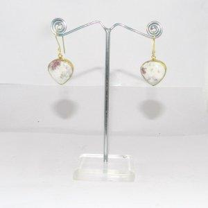 Cinnabar 18k Gold plated Bezel Earring