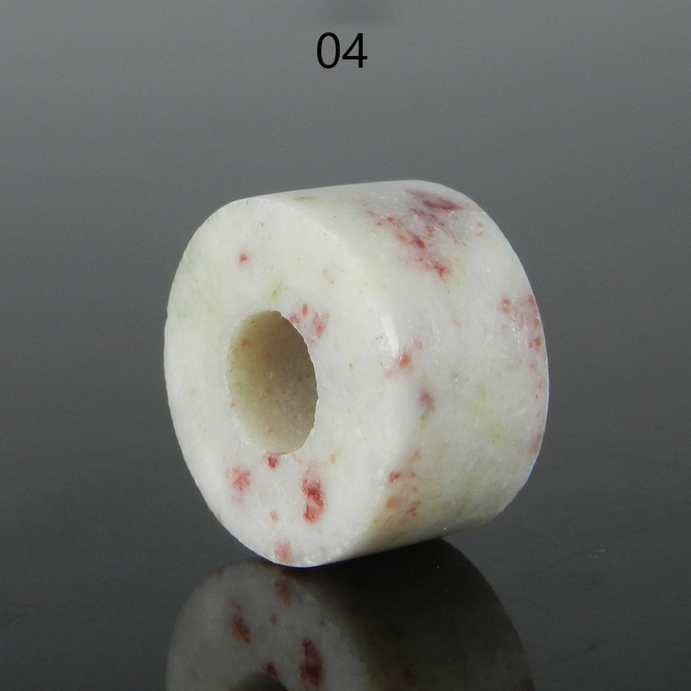 Cinnabar Jasper 14x8x5mm Round Flat Beads